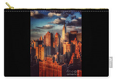 Empire State In Gold Carry-all Pouch by Miriam Danar