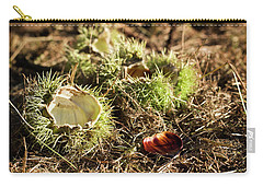 Empty Chestnut Carry-all Pouch by Helga Novelli