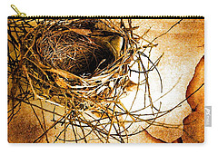 Carry-all Pouch featuring the photograph Empty Nest by Jan Amiss Photography