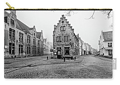 Empty Streets In Bruges On A Misty Morning Carry-all Pouch
