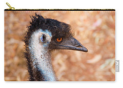 Emu Profile Carry-all Pouch by Mike  Dawson