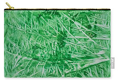 Encaustic Abstract Green Foliage Carry-all Pouch