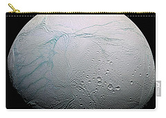 Carry-all Pouch featuring the photograph Enceladus Hd by Adam Romanowicz