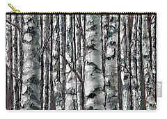 Enchanted Forest -black And White Carry-all Pouch