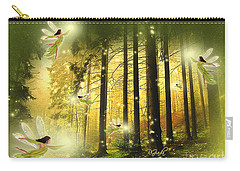 Enchanted Forest - Fantasy Art By Giada Rossi Carry-all Pouch by Giada Rossi