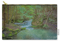 Carry-all Pouch featuring the digital art Enchanted Forest One by Randy Steele