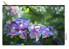 Enchanted Hydrangea Carry-all Pouch by Theresa Tahara