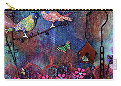 Enchanted Patchwork Carry-all Pouch by Donna Blackhall