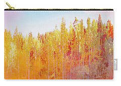 Carry-all Pouch featuring the digital art Enchanted Scenery #3 by Klara Acel