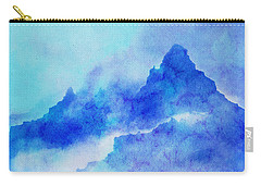Carry-all Pouch featuring the digital art Enchanted Scenery #4 by Klara Acel