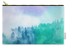 Carry-all Pouch featuring the photograph Enchanted Scenery by Klara Acel