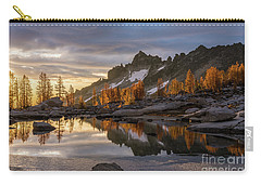 Enchantments Golden Sunrise Larches Reflection Carry-all Pouch by Mike Reid