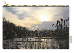 End Of Day At The Lake Carry-all Pouch by Dora Sofia Caputo Photographic Art and Design