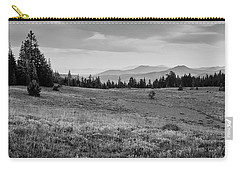 Carry-all Pouch featuring the photograph End Of Day In B W by Frank Wilson