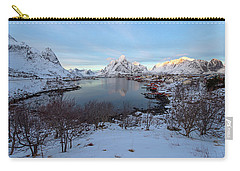 Carry-all Pouch featuring the photograph End Of Day, Reine, Lofoten,  by Dubi Roman