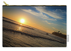 Carry-all Pouch featuring the photograph End Of Summer Sunset Surf by T Brian Jones