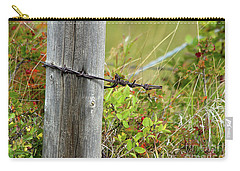 Carry-all Pouch featuring the photograph End Of The Line by Ann E Robson