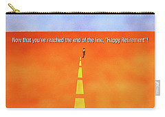 End Of The Line Greeting Card Carry-all Pouch by Thomas Blood