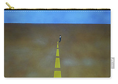 Carry-all Pouch featuring the painting End Of The Line by Thomas Blood