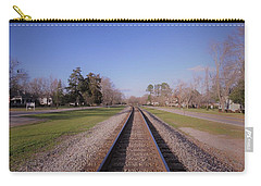 Carry-all Pouch featuring the photograph Endless Railroad by Aaron Martens
