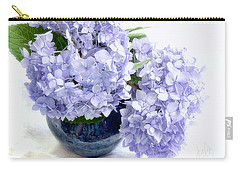 Endless Summer Hydrangea Still Life Carry-all Pouch by Louise Kumpf