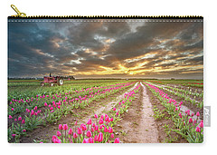 Carry-all Pouch featuring the photograph Endless Tulip Field by William Lee