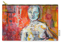 Carry-all Pouch featuring the painting Energy In Stillness by Mary Schiros