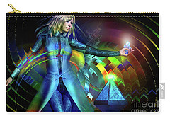 Carry-all Pouch featuring the digital art Energy by Shadowlea Is