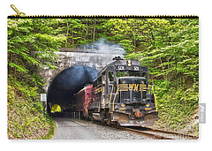 Engine 501 Coming Through The Brush Tunnel Carry-all Pouch by Jeannette Hunt