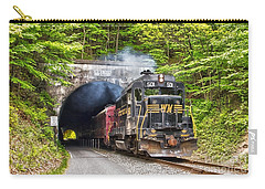 Engine 501 Coming Through The Brush Tunnel Carry-all Pouch