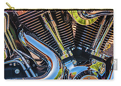 Carry-all Pouch featuring the photograph Engine Chrome by Samuel M Purvis III