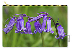 Carry-all Pouch featuring the photograph English Bluebells 1 by Shirley Mitchell