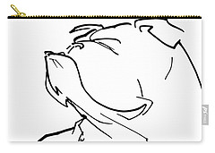 English Bulldog Gesture Sketch Carry-all Pouch