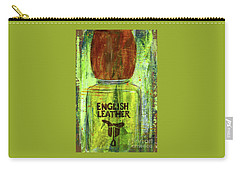 Carry-all Pouch featuring the painting English Leather by P J Lewis