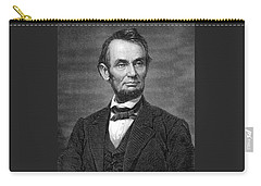 Engraving Of Portrait Of Abraham Lincoln From Brady Photograph Carry-all Pouch