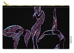 Carry-all Pouch featuring the digital art Enhanced Transformation by Jamie Lynn