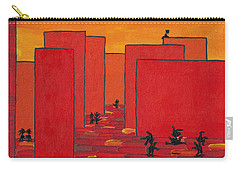 Carry-all Pouch featuring the painting Enjoy Dancing In Red Town P2 by Manuel Sueess