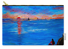 Enjoying The Sunset Differently Carry-all Pouch