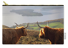 Enjoying The View - Highland Cattle Carry-all Pouch