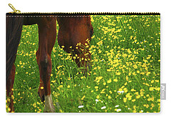 Carry-all Pouch featuring the photograph Enjoying The Wildflowers by Karol Livote