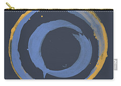Enso T Blue Orange Carry-all Pouch by Julie Niemela