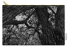 Enter The Woods In Black And White Carry-all Pouch