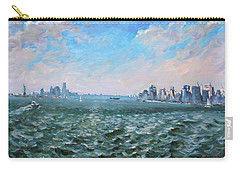 Entering In New York Harbor Carry-all Pouch by Ylli Haruni