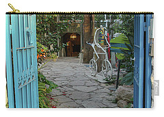 Carry-all Pouch featuring the photograph Entrance Door To The Artist by Yoel Koskas