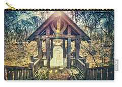 Carry-all Pouch featuring the photograph Entrance To 7 Bridges - Grant Park - South Milwaukee  by Jennifer Rondinelli Reilly - Fine Art Photography