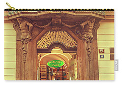 Carry-all Pouch featuring the photograph Entrance To Passage. Series Golden Prague by Jenny Rainbow