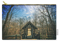 Carry-all Pouch featuring the photograph Entrance To Seven Bridges - Grant Park - South Milwaukee #3 by Jennifer Rondinelli Reilly - Fine Art Photography