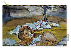 Carry-all Pouch featuring the painting Ephesians 2 13 by Mindy Newman