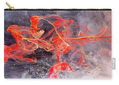 Epigenesis - Red Abstract Art Photography Carry-all Pouch