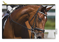 Carry-all Pouch featuring the photograph Equestrian At Work D4913 by Wes and Dotty Weber